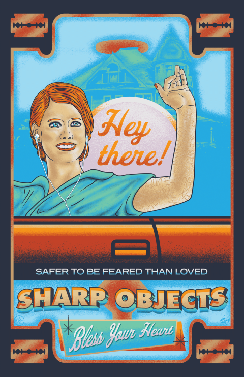 SHARP OBJECTS ALTERNATIVE POSTER DESIGN