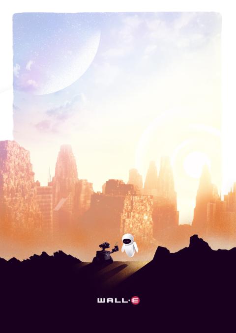 Wall-E Poster by Simon Fairhurst