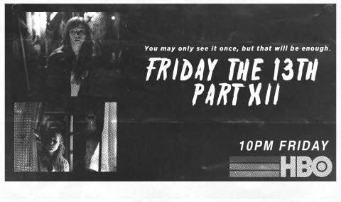 Friday the 13th Part XII newspaper Ad