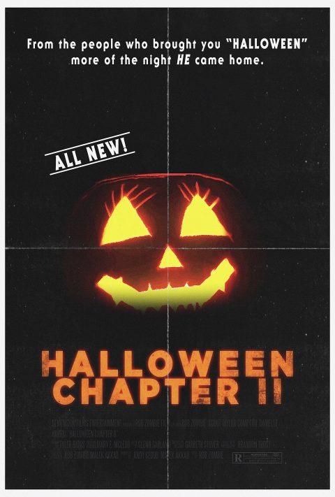 Halloween Chapter II Original Halloween 2 (1981) style poster