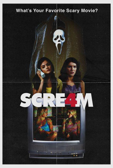 Scream 4 (2011) 80s Style Poster