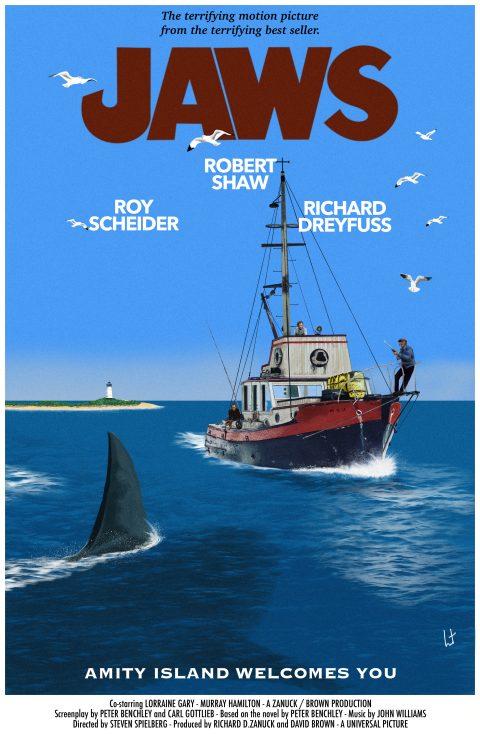 Jaws alternative poster fan art #jaws #universalpictures #stevenspielberg