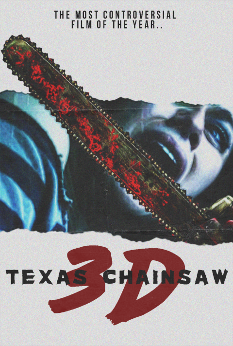 Texas Chainsaw 3D (2013) 80s Style Poster