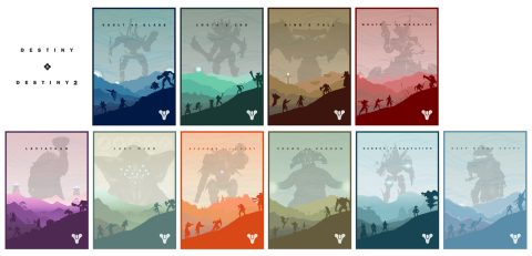 Destiny Raid Night Complete Art Card Set