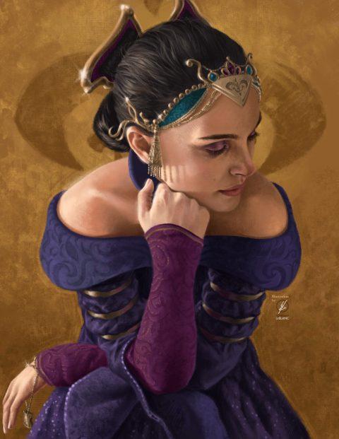 Padmé Painted Portrait
