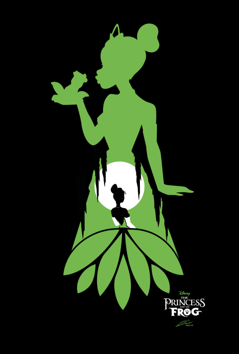 Disney THE PRINCESS AND THE FROG Poster Art