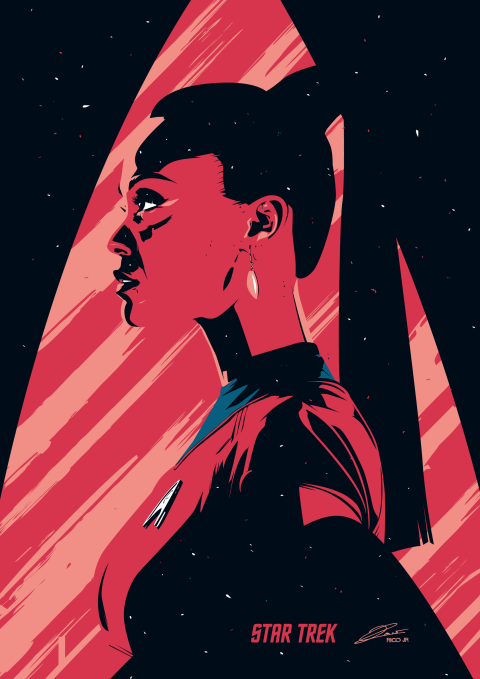 STAR TREK Uhura Poster Art