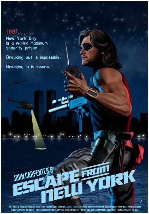 Snake Plissken – ESCAPE FROM NEW YORK #johncarpenter