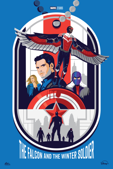 The Falcon and the Winter Soldier (Blue Version)
