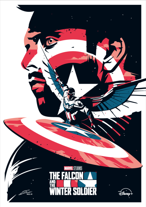 FALCON AND THE WINTER SOLDIER Poster Art