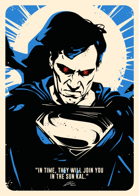 Black Suit SUPERMAN Poster Art