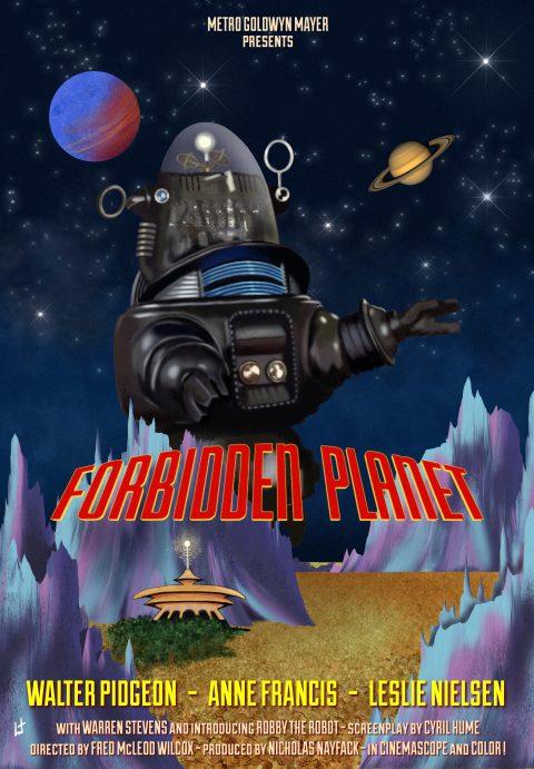 Forbidden planet 1956 fanart movie poster