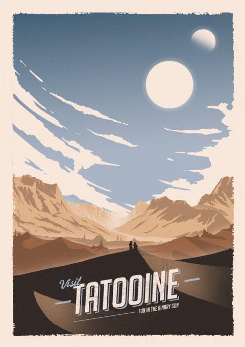 Tatooine Travel Poster