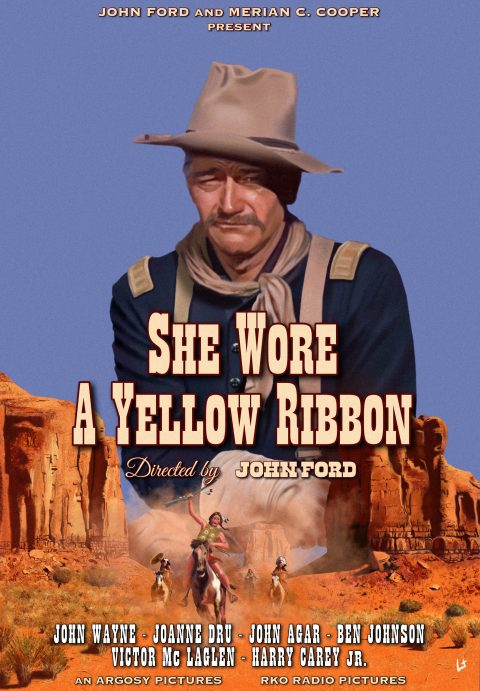 She Wore A Yellow Ribbon – John Ford 1949 – alternative movie poster digital painting
