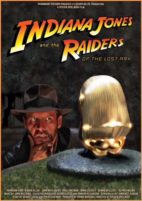 Indiana Jones and the raiders of the lost Ark – digital painting by Laurent Carbonelle