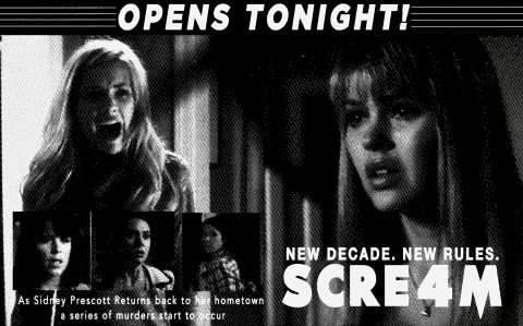 Scream 4 (2011) retro style newspaper Ad