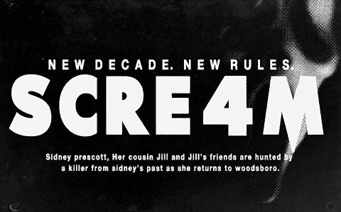 Scream 4 (2011) Retro style newspaper Ads