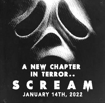 Scream (2022) retro style Newspaper Ad