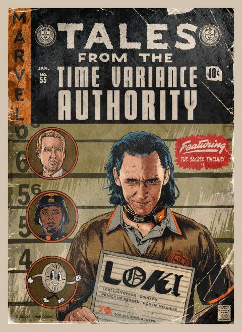 LOKI – TV Show Vintage Comic Cover