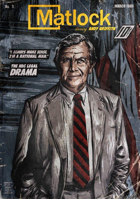MATLOCK – TV Show Vintage Comic Cover
