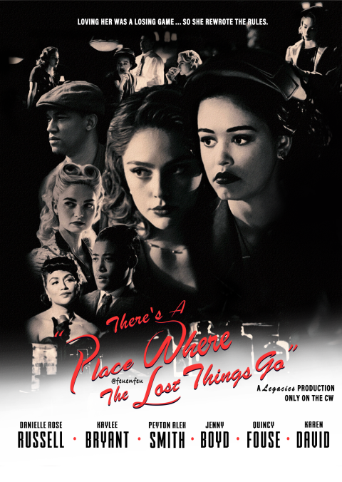 CW Legacies: There's A Place Where The Lost Things Go | Casablanca-inspired Poster