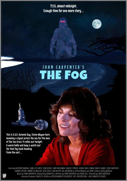 John Carpenter's The Fog alternative movie poster (in 2 alternative versions) by Laurent Carbonelle