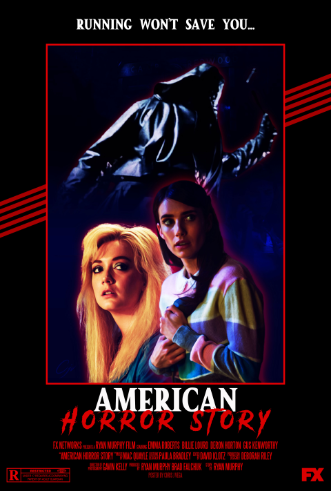 American Horror Story (1984) Retro Style Poster