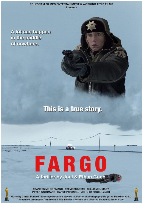 Fargo 2nd alternative movie poster – digital painting by Laurent Carbonelle