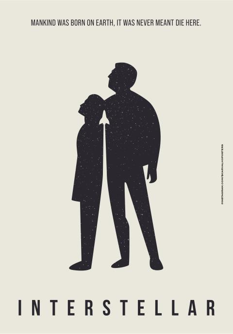 interstellar Minimalist Poster
