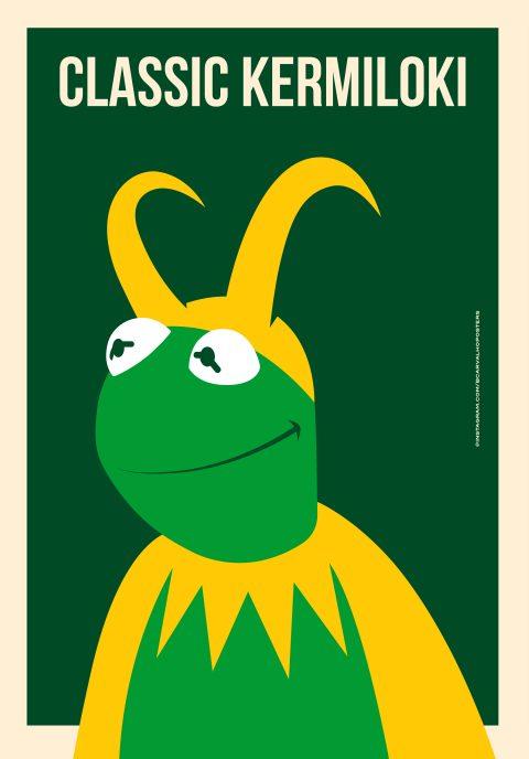 Classic KermiLoki Minimalist Poster