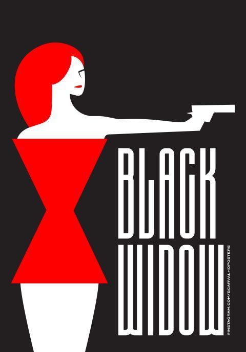 Black Widow Minimalist Poster 2