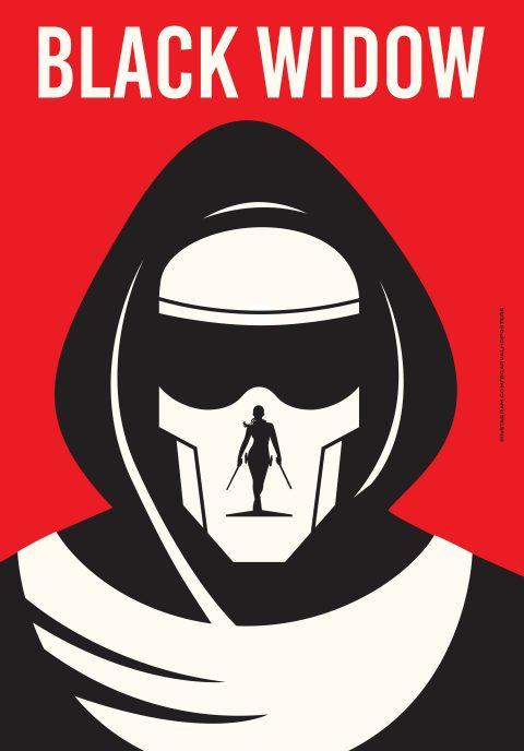 Black Widow Minimalist Poster
