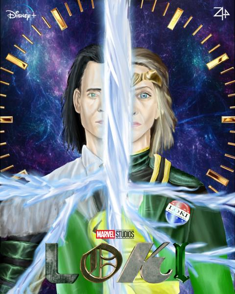 """""""Loki"""" (2021 TV Series) Fan Art Poster by Zyphrr44"""