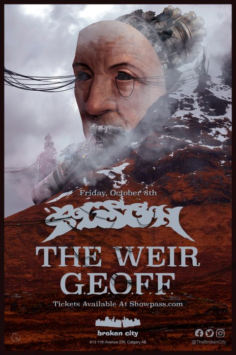 October 8th 2021 – Bison | The Weir | GEOFF – Show Poster