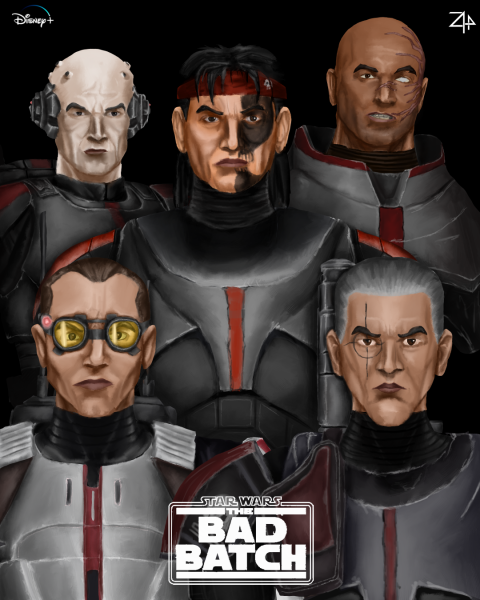 """""""The Bad Batch"""" Fan Art Poster by Zyphrr44, Inspired by """"Queen II"""" album cover"""