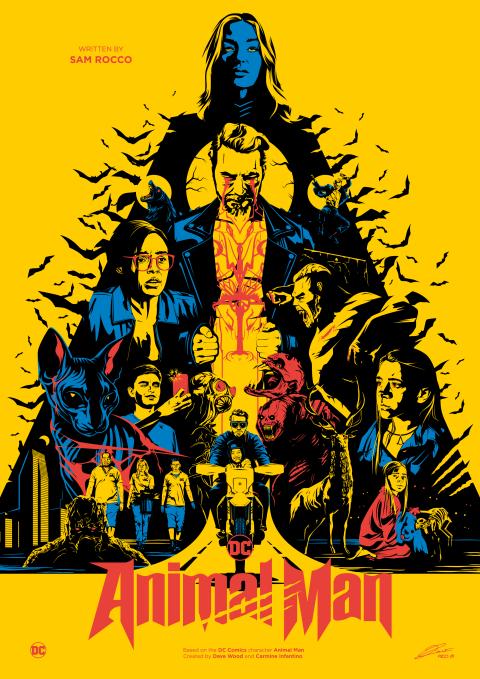 ANIMAL MAN (DC Comics) Poster Art