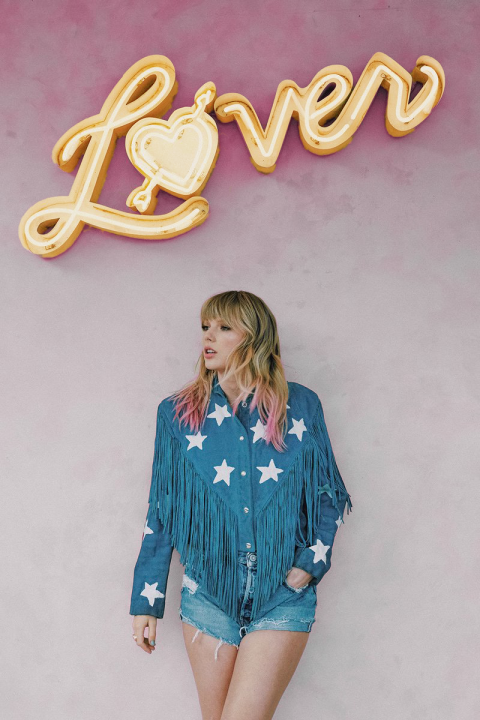 Taylor Swift Lover poster (pink/gold)