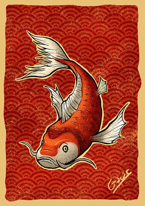 "G-SUS ART ""KOI FISH"" ART PRINT"