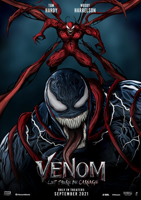"""G-SUS ART """"VENOM LET THERE BE CARNAGE"""" ALTERNATIVE MOVIE POSTER"""