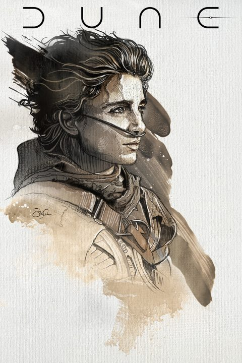 Dune:  Timothée Chalamet as Paul Atreides